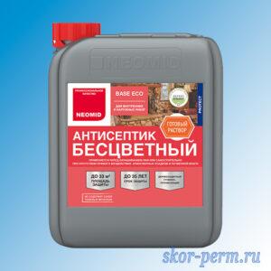 Антисептик NEOMID Base Eco для внутренних и наружных работ, 5 л, безцветный