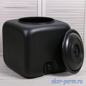 Бак для душа 100 литров черный