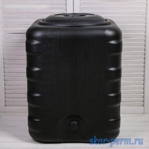 Бак для душа 150 литров черный