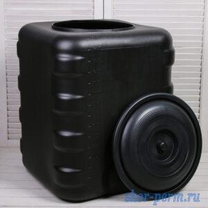Бак для душа 150 литров (500х500х650) черный