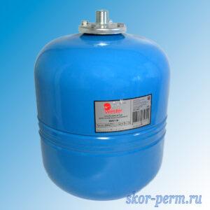 Бак расширительный мембранный для водоснабжения 18л синий (вертикальный)