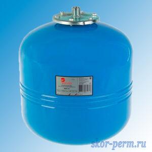 Бак расширительный мембранный для водоснабжения 35л синий (вертикальный)