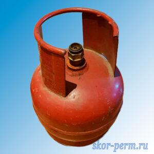 Баллон пропановый 5 л б/у клапан