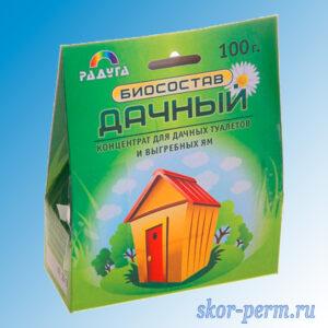 """Биосостав """"Дачный"""" для туалетов и выгребных ям, 100 г"""