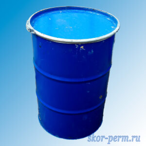 Бочка металлическая 200 литров, б/у