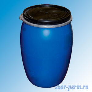 Бочка пластиковая 127 литров с крышкой, б/у