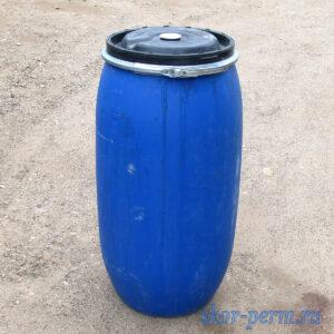 Бочка пластиковая 165 литров с крышкой, б/у