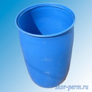 Бочка пластиковая 227 литров, б/у