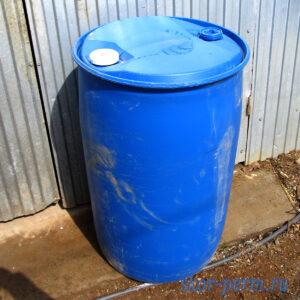 Бочка пластиковая 227 литров б/у