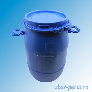 Бочка пластиковая 30 литров с крышкой, б/у