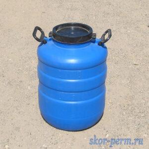 Бочка пластиковая 40 литров с крышкой