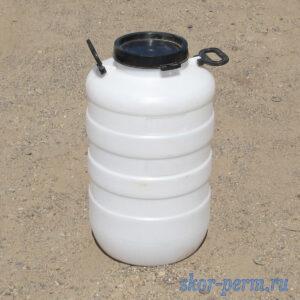 Бочка пластиковая 50 литров с крышкой