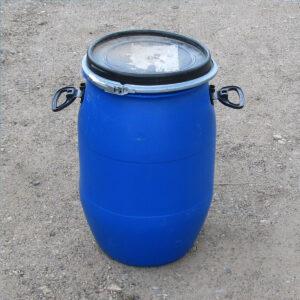 Бочка пластиковая 65 литров с крышкой, б/у