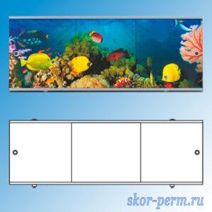 Экран для ванны Премиум 1,5 м (алюм. профиль)