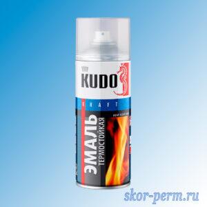 Аэрозоль KUDO Kraft эмаль термостойкая, золотая, 520 мл