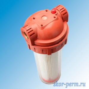 Корпус для фильтра для горячей воды SL 10″ непрозрачный 1/2″, без фильтра
