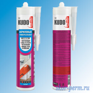 Герметик KUDO акриловый универсальный белый 290 мл