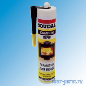 Герметик Soudal для печей черный, 280мл