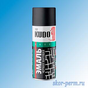 Аэрозоль KUDO эмаль матовая черная 520 мл