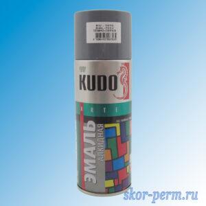 Аэрозоль KUDO эмаль серая-темная, 520 мл