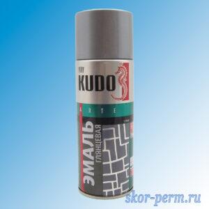 Аэрозоль KUDO эмаль глянцевая серая 520 мл