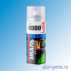 Аэрозоль KUDO эмаль термостойкая для мангалов, черная, 520 мл