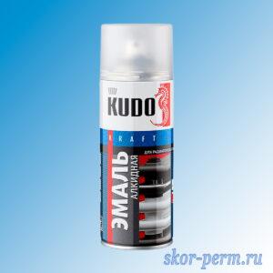 Аэрозоль KUDO эмаль для радиаторов, белая, 520 мл