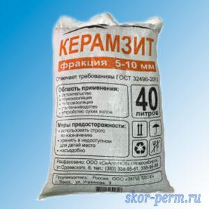 Керамзит (5-10) 0,04 м3, 18 кг