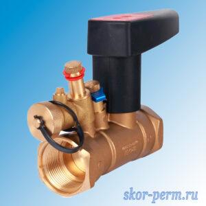 Клапан балансировочный ручной БРОЕН Venturi FODR DN32 PN25 с дренажом