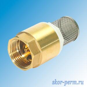 Клапан обратный пружинный 15 с фильтром
