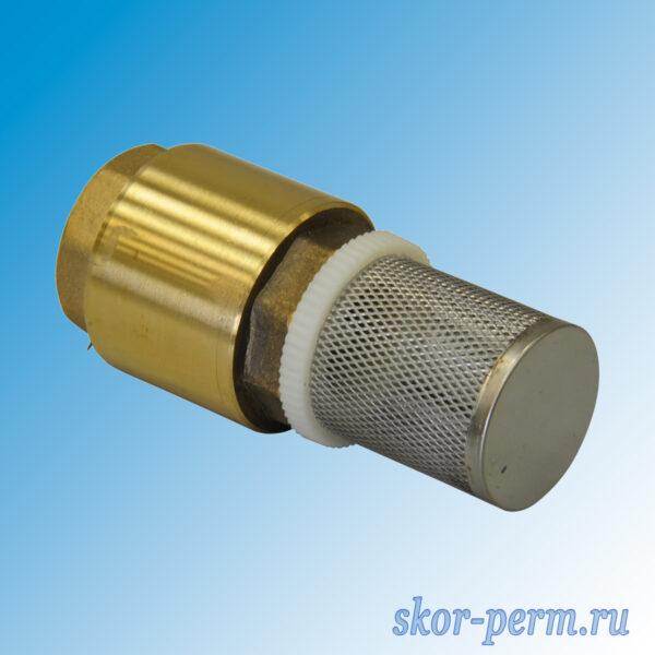 Клапан обратный пружинный с фильтром