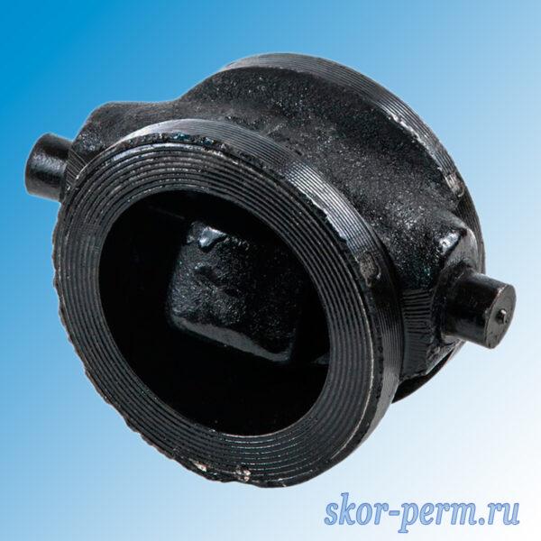 Клапан обратный чугунный 19ч21бр поворотный межфланцевый