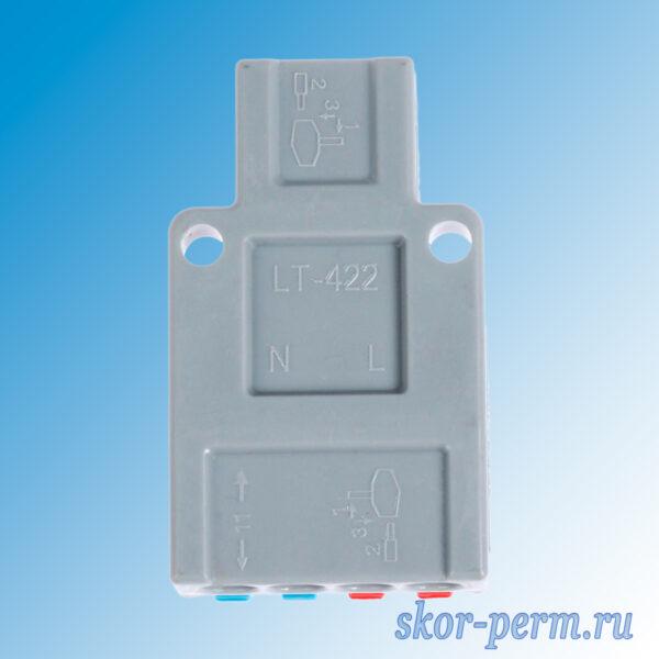 Клеммник электрический 2х4 зажима проходной