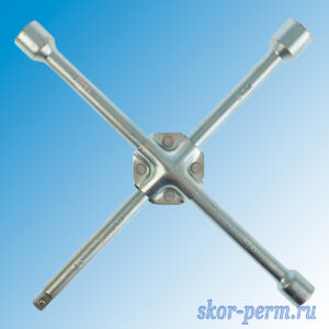 Ключ баллонный крестообразный усиленный TUNDRA 17х19х21 мм, квадрат 1/2