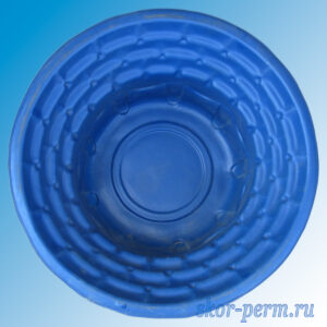 "Клумба пластиковая ""Каскад"" синяя"
