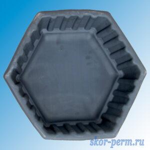 """Клумба пластиковая """"Шестигранник"""" большая черная"""