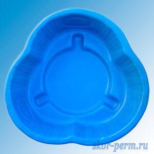 """Клумба пластиковая """"Южная"""" синяя"""