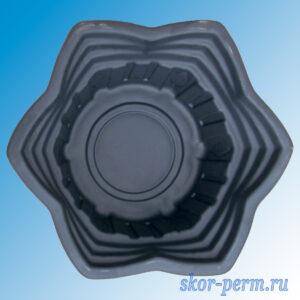 "Клумба пластиковая ""Звезда"" черная"