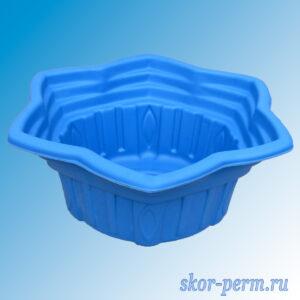 "Клумба пластиковая ""Звезда"" синяя"