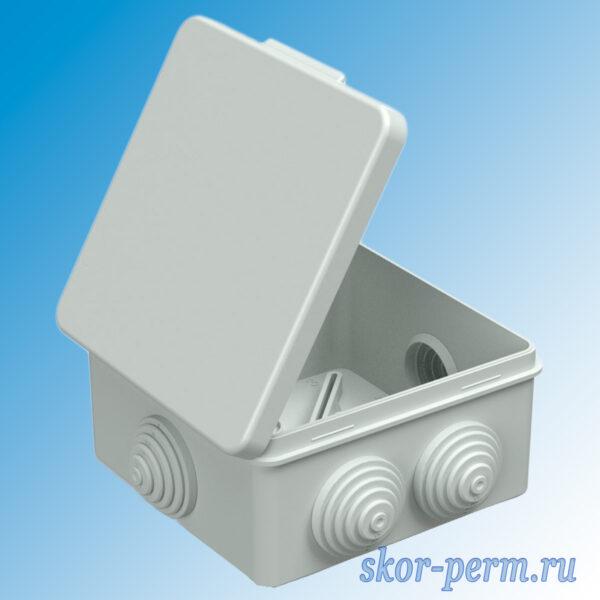 Коробка распаячная ОП 80х80х50 под гофру 7 входов