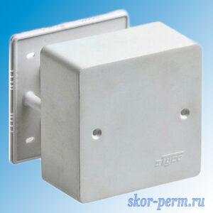Коробка распределительная ОП 85х85х45 Рувинил (под кабель-канал)