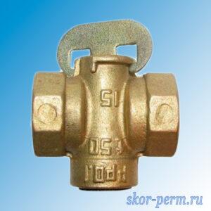 Кран конусный газ 15 11Б34бк