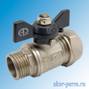 Кран для металлопластиковых труб 20х1/2″ AQUALINK Ц-НР
