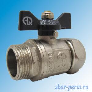 Кран для металлопластиковых труб 20х3/4″ AQUALINK Ц-НР