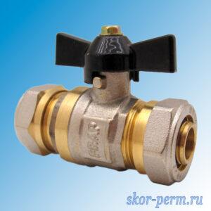 Кран для металлопластиковых труб 20х20 FRAP Ц-Ц