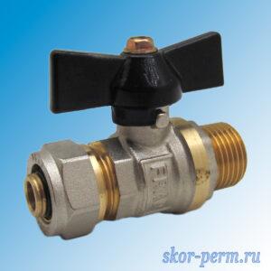 Кран для металлопластиковых труб 16х1/2″ FRAP Ц-НР