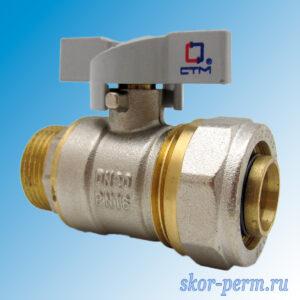 Кран для металлопластиковых труб 26х3/4″ СTМ Ц-НР