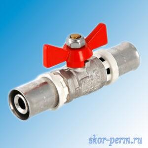 Кран для металлопластиковой трубы 16х16 пресс VALTEC