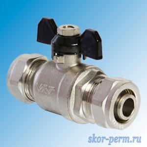 Кран для металлопластиковых труб 20х20 VЕRTUM Ц-Ц