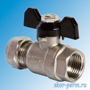 Кран для металлопластиковых труб 16х1/2″ VЕRTUM Ц-ВР